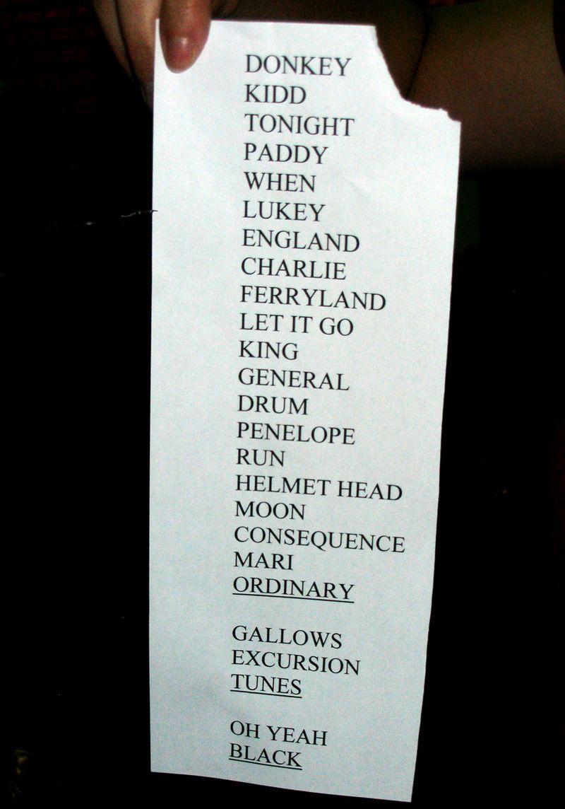Sault Ste Marie set list