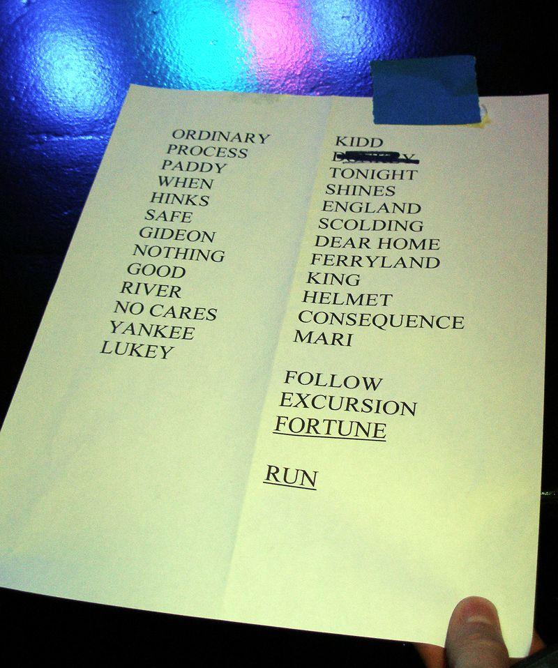 Burlington Set List