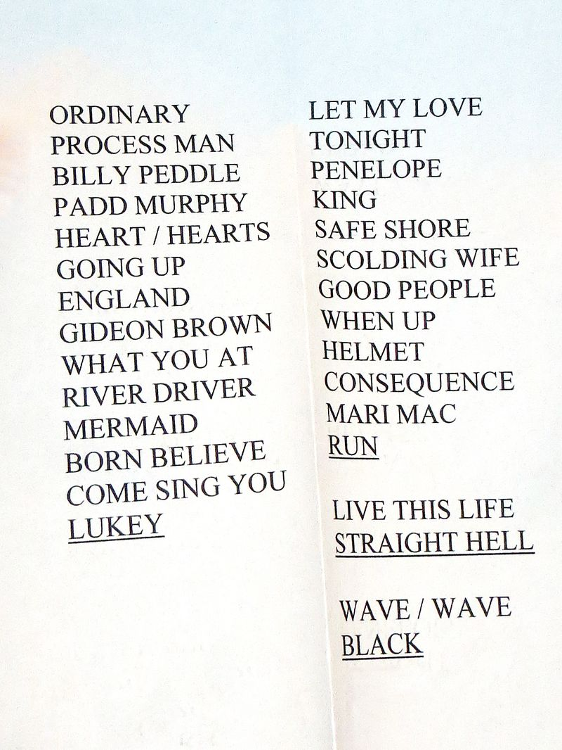 XX Calgary 1 Set List