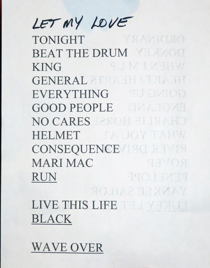 Edmonds Set List Second Set