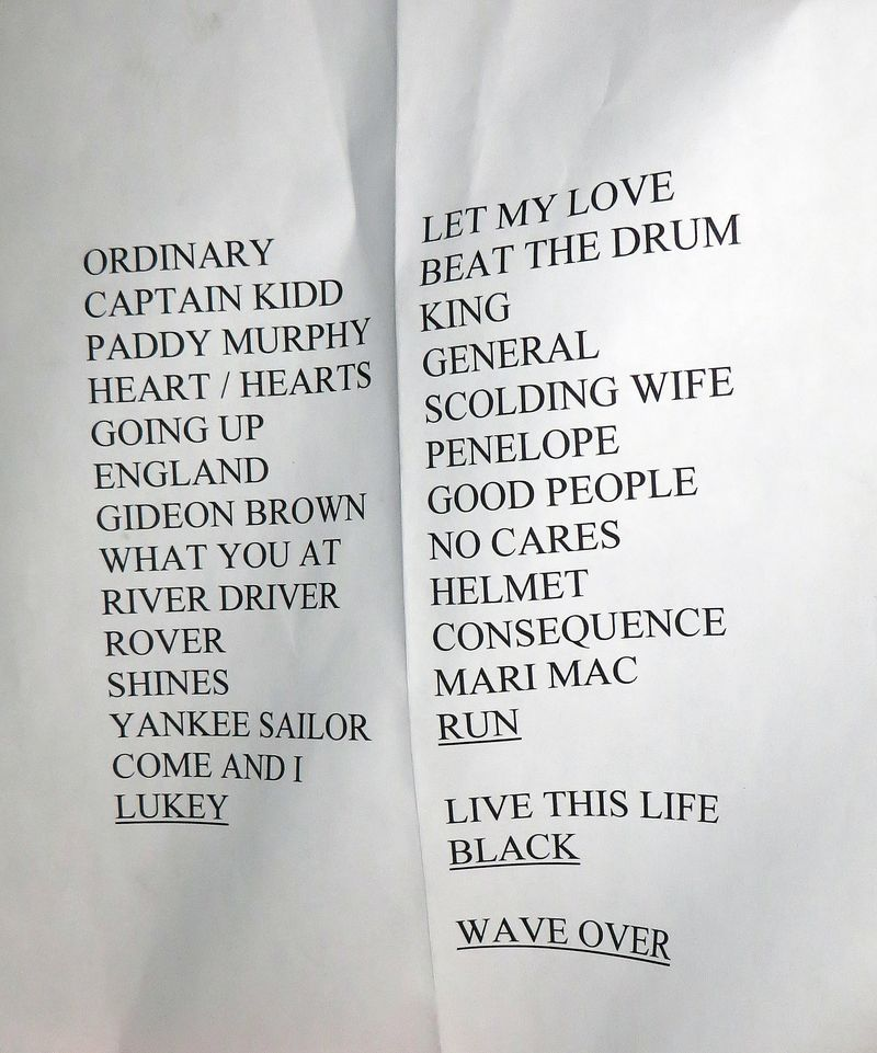 Nanaimo Set List